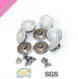 No Sew Fashion Design Brass Metal Denim Jeans Boutons