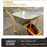 Galvanisierte Metallschubkarre Wb6404 für die Aufbau-Logistik und Gartenarbeit