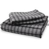 編まれた毛織の純粋なバージンウール毛布