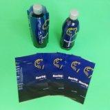 Etiqueta plástica do Shrink para a garrafa de água