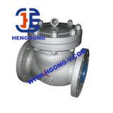 Elevatore industriale di API/JIS/DIN/valvola di ritenuta d'ottone flangia dell'oscillazione