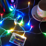 2m 20LEDs 건전지에 의하여 운영하는 LED 크리스마스 끈 빛