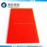 Bayer Material Policarbonato rojo (PC) Hoja de techo hueco para la decoración