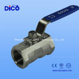 Steel inoxidável 1PC Reduce Ball Valve com Ce Certificate