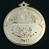Подгонянные золотистые медали металла с задним текстом