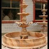 Fontana di marmo rossa di tramonto semplice per la decorazione domestica Mf-181