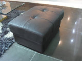 Tabouret de mémoire de sofa de cuir de couleur de Brown