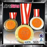 Medalha do chapeamento da diferença da qualidade superior com fitas