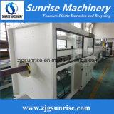 Línea de la protuberancia de la producción del tubo del PVC del plástico UPVC de la maquinaria de la salida del sol