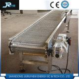 Transporte de correia do engranzamento de fio com protetor lateral para lavar