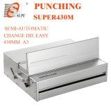 Interchangeable Die (SUPER430M)の半自動Paper Punching Machine