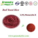 De rode Gist van de Rijst met 1.0% Monacolin