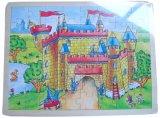 Giocattolo di legno di puzzle del puzzle del castello