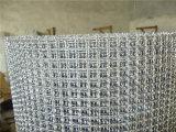 鉱山、振動、ろ過、焙焼、装飾のためのステンレス鋼または炭素鋼か鉄によってひだを付けられる金網