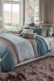 中間レベルの緑のDimondの絹のパネルのパッチワークの刺繍の寝具セット