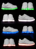 A luz elevada da ajuda calç sapatas cobrando luminosas do diodo emissor de luz da fluorescência da forma
