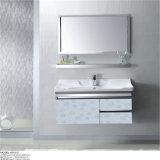 Vanidad inoxidable montada en la pared del baño de acero de la alta calidad con el espejo