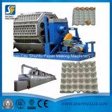 Plateau d'oeufs de plateau d'oeufs de pulpe de papier de rebut faisant à machine la chaîne de production en plastique de boîte à fruit