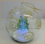 LED Light를 가진 손 Blown Christmas Glass Ball