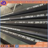 Boyau en caoutchouc hydraulique tressé de fil d'acier DIN En853 1sn 2sn