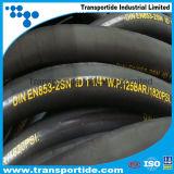 Boyau industriel de l'usine SAE100 R2at/boyaux en caoutchouc hydrauliques