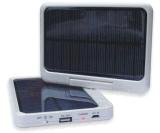 Rotatable y plegable cargador solar del banco de la energía del teléfono móvil con la luz del LED