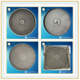 Piastra riscaldante del ghisa della muffa delle coperture per la famiglia o le stufe di Inductrial