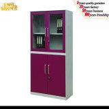 Door de vidro Filing Cabinet Metal Book Cabinet com 4 Door
