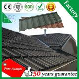 Tuiles de toiture enduites galvanisées en métal de pierre de tôle d'acier de matériau de construction avec le prix usine