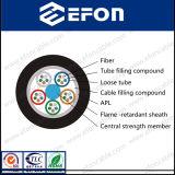 Preço blindado do cabo da fibra óptica da fita de alumínio ao ar livre (GYTZA) com revestimento da Flama-Retardent