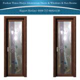 蝶番を付けられたアルミニウムか二重層の開き窓または浴室のドアは和らげた