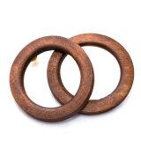Oorringen van de Nagel van de cirkel de Bruine die van Natuurlijk Hout voor Dame worden gemaakt