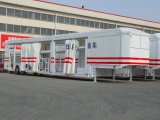 4 SUV Two Axle Double Tyre Car Carrier Semi - Trailer