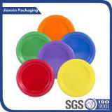 Mehrfarbenwegwerfplastiktellersegment (irgendeine Größe)