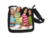 Saco de ombro médio do saco da lona da cor preta para miúdos