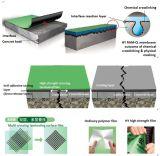 Membrana autoadesiva laminada cruzada da película do HDPE