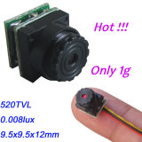 câmara de segurança video a menor do CCTV de 520tvl 0.008lux a mini para o uso da HOME do carro