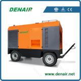 Compresseur d'air rotatoire portatif de vis de moteur diesel de Cummins d'exploitation (constructeur de la Chine)