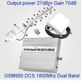完全な知性のスマートな900/1800MHz携帯電話GSMのシグナルの中継器のアンプ3G Lte 4Gのブスター