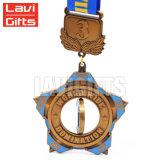 Medalla de giro del deporte del metal de la concesión del esmalte del oro suave grande de Kazakhstan