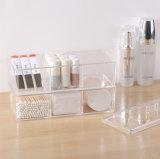 Organizador a prueba de polvo del maquillaje del estilo de la vendimia del rectángulo de almacenaje del sostenedor de la pista de algodón