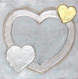 Pintura al óleo popular del arte de la pared del estilo del corazón