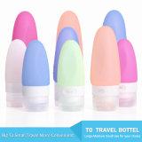 Cinco botellas suaves portables del recorrido del silicón de Kitdine de los colores fijaron