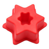 Molde material de la torta del silicón de la categoría alimenticia del certificado del FDA, molde formado hexágono de la torta del silicón