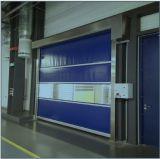 En plastique transparents de polycarbonate enroulent la porte d'obturateur de rouleau