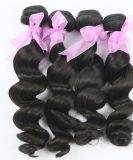 Extensão 100% brasileira não processada do cabelo humano da classe do cabelo 8A do Virgin em linha reta, onda do corpo, onda profunda, Afro, Kinky, onda da perda