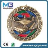 昇華締縄が付いている金属の金の武道のKungfuカスタマイズされたメダル