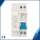 Corta-circuito de la salida de la tierra de Dpnl (CENB2L-32) 1p+N 32A 230V~ 50Hz/60Hz con la protección excesiva de la corriente y de la salida