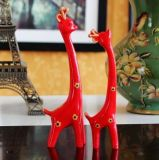 Lovely Cute Resin Giraffe Deer Figurine Figure Home Decor Presentes de casamento