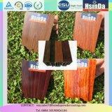 Enduit en bois de poudre de jet de transfert thermique de texture de résine époxy pour la porte de guichet en aluminium